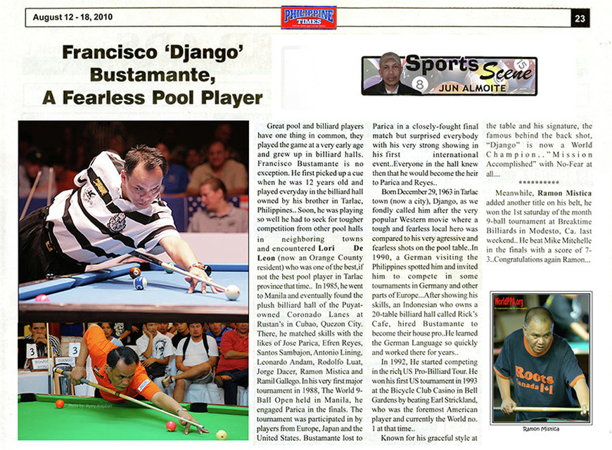 Francicsco 'Django' Bustamante A Fearless Pool Player